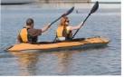 tandem kayak paddling