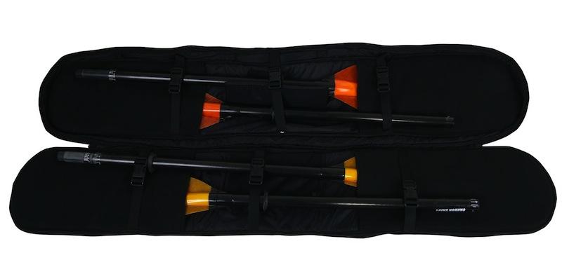 2 paddles inside ors paddle bag