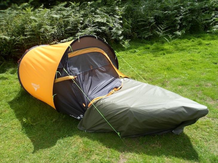 The Inflatable Kayak Mattress Push Through Tent