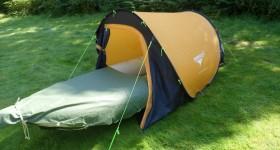 The Inflatable Kayak Mattress Push-Through Tent