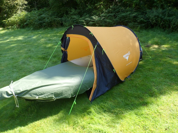 The Inflatable Kayak Mattress Push Through Tent