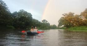 Kayaking in Lake Nicaragua
