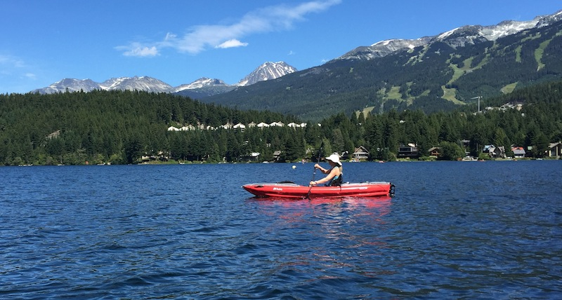 paddling the Innova Helios at Whistler