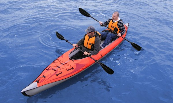 paddling the Advanced Elements AdvancedFrame Convertible