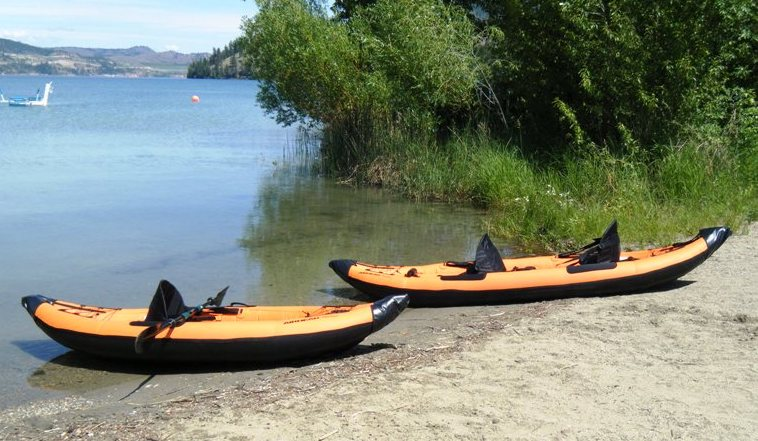 Airhead Montana solo and tandem inflatable kayaks