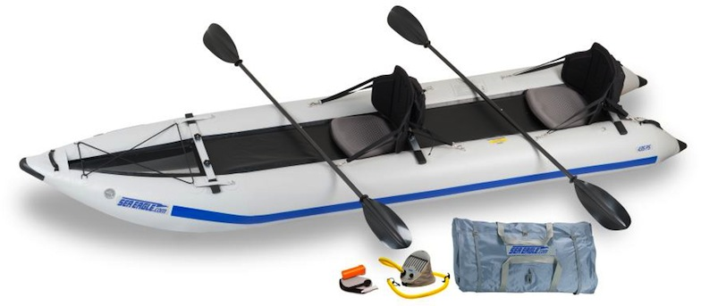Sea Eagle 435 Paddleski Pro Carbon kayak package