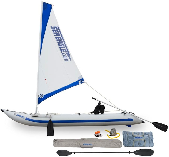 435 Paddleski sailing rig inflatable kayak package