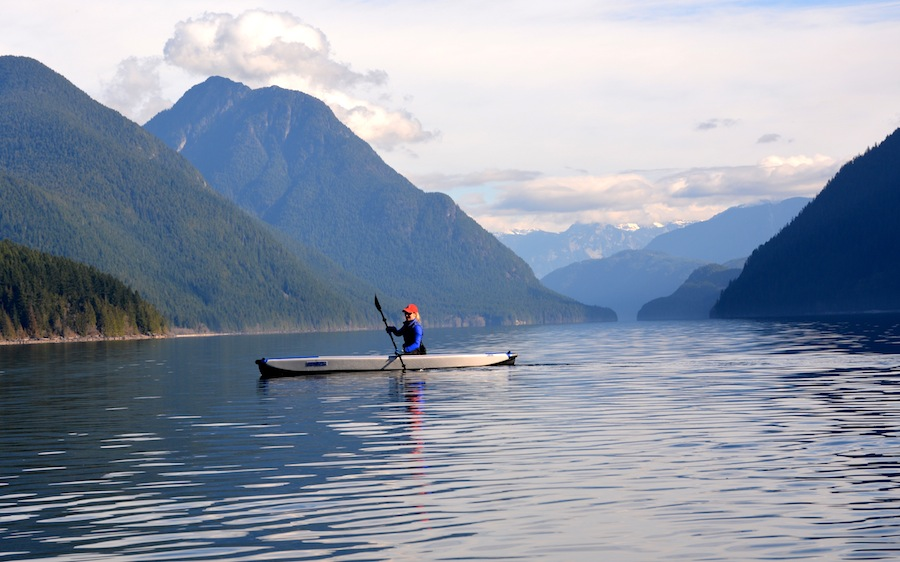 paddling the Razorlite kayak in Golden Ears