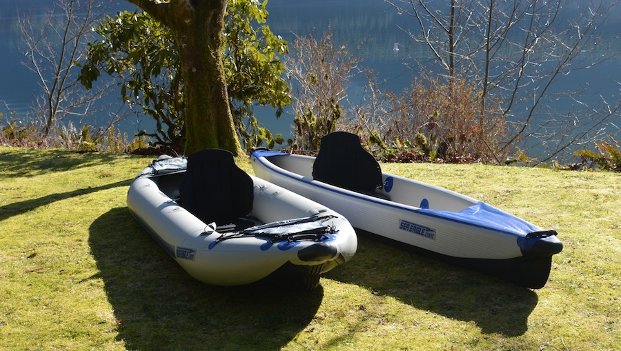 comparing stability of the 393 Razorlite and 365 FastTrack kayaks