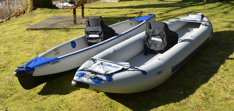 comparing sea eagle kayaks