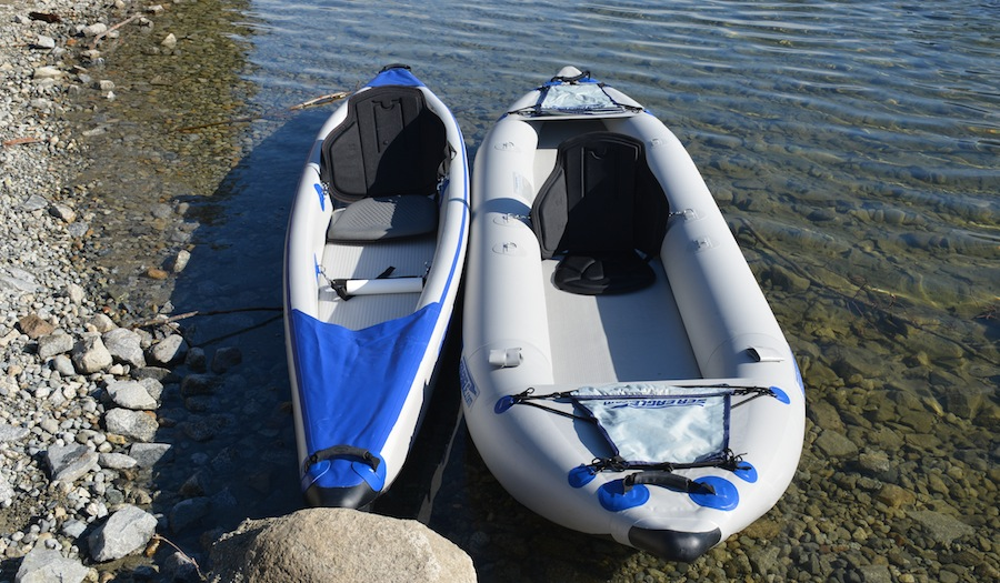 width comparison of RL and FT inflatable kayaks
