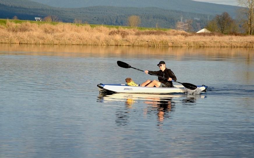 low angle paddling style
