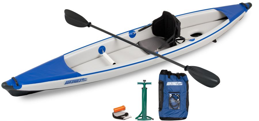 SE Razorlite package with paddle, pump and backpack