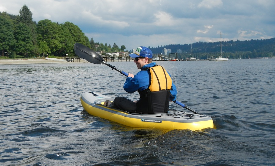 choosing a paddle length for an inflatable kayak